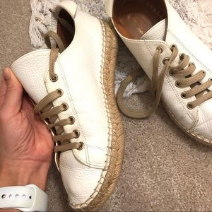 Anthropologie Maypol Leather Espadrille Sneakers